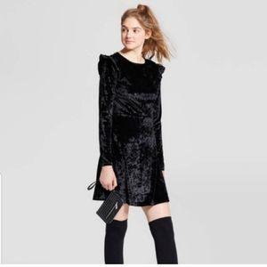 Mossimo Black Velvet Dress